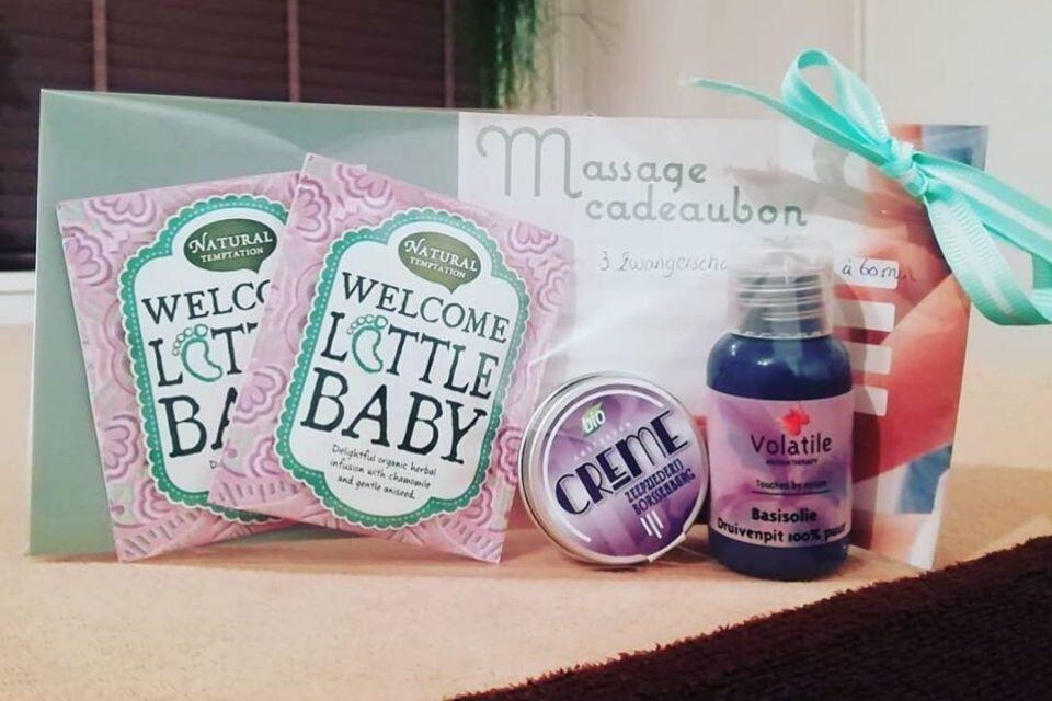 Zwangerschapsmassage cadeau